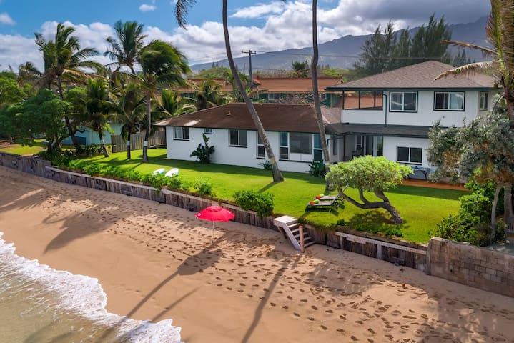 Pineapple Pad Waialua Oceanfront Home - Уэйэлуа - Дом