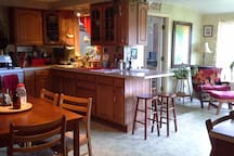 Kitchen and dinning.