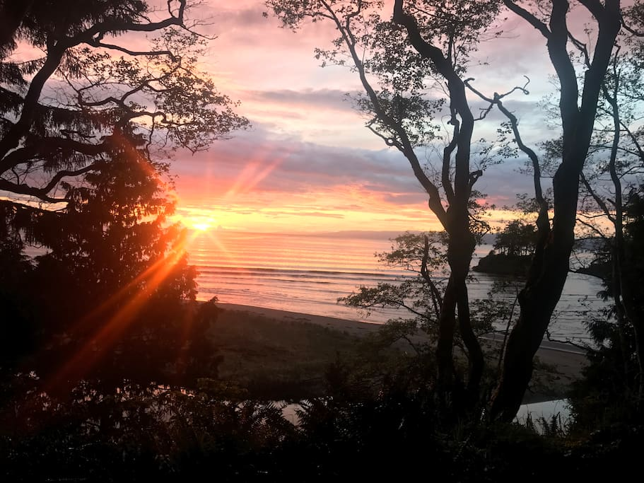 Sunset on Crescent Beach- 5 minute walk from the house.