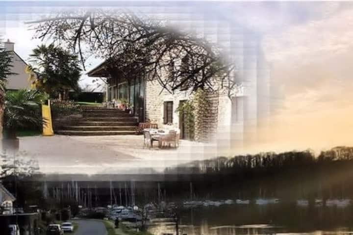 Dinan-La Vicomté/Rance:Demeure de charme, piscine