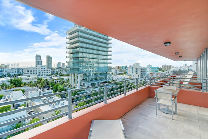 The Bentley South Beach | City View Two Queens Studio Suite 15B