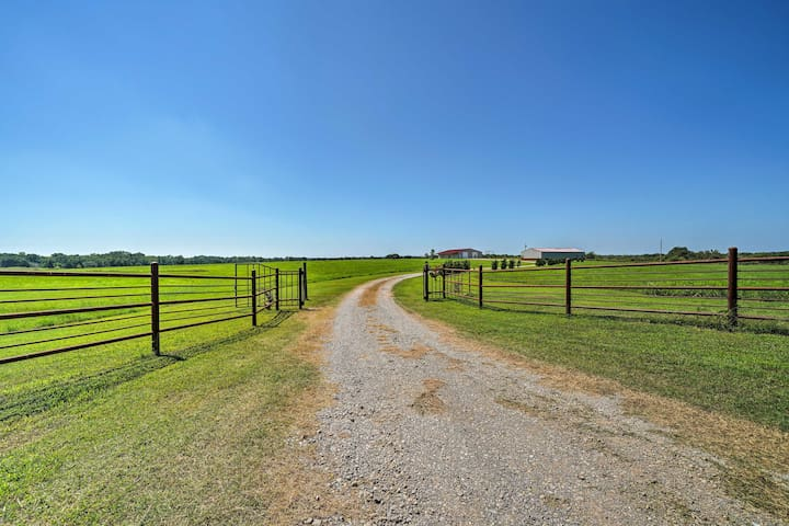 Enter through these gates across a gravel road to your Glencoe vacation rental!