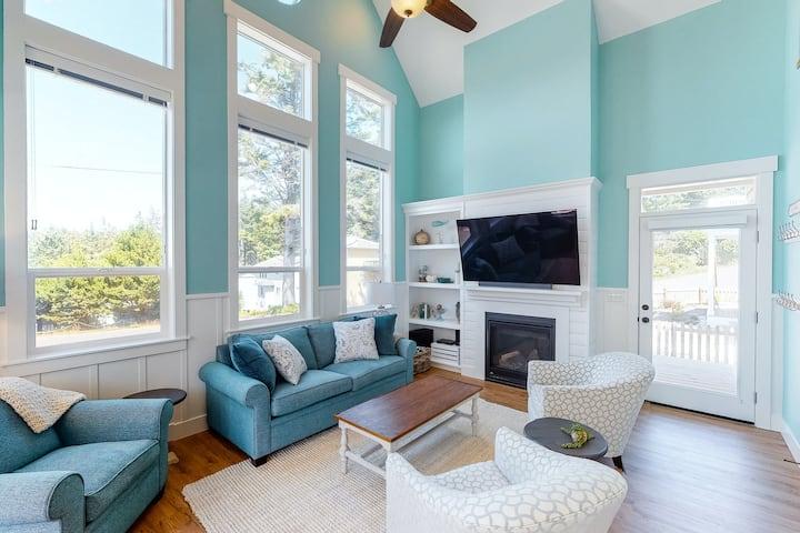 Sparkling, Dog-Friendly Beach Home w/ Free WiFi, Private Hot Tub, & Ocean Views