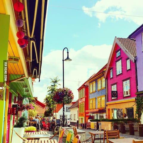 Fargegaten at Stavanger