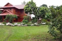 Teak house garden villas