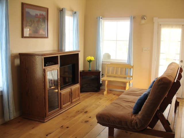 Living Room with Flat Screen TV & DVD Player