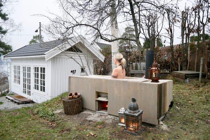 Mini hus ved Oslofjorden