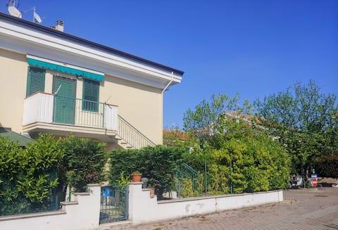 Summer villa in private seaside village