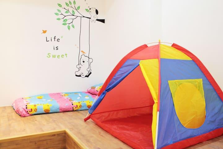 Keelung Stay: C  位於基隆市中心的獨立親子套房(2-4人)