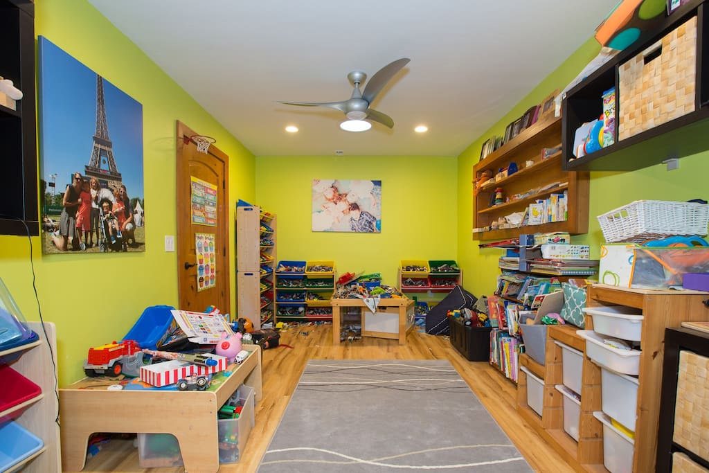 A pretty amazing collection of LEGOs and other cool kid toys