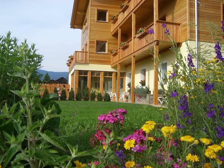 App. Sonne mit traumhaftem Blick auf die Dolomiten