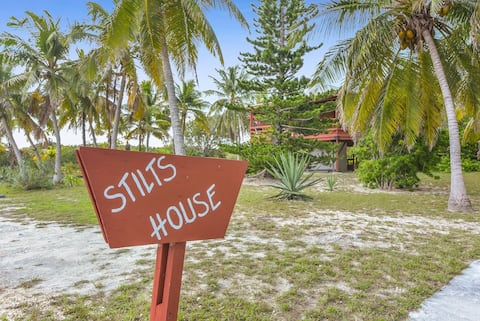 Cozy Stilts House in Exuma, Bahamas