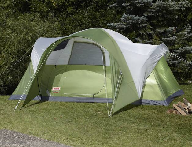 "Pitch our Coleman ""Montana"" tent - we'll help!"
