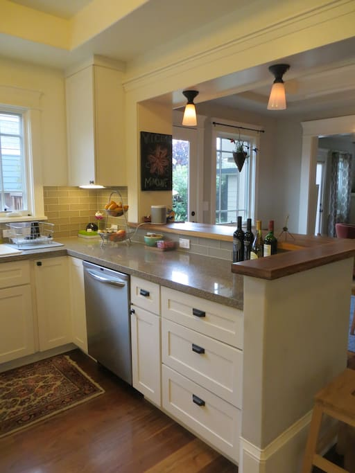 open concept fully equipped kitchen