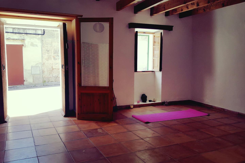 Main entrance + Yoga room