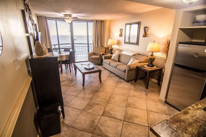 1101 Oceanfront End Unit in the heart of Myrtle Beach Lots of light and incredible views!!