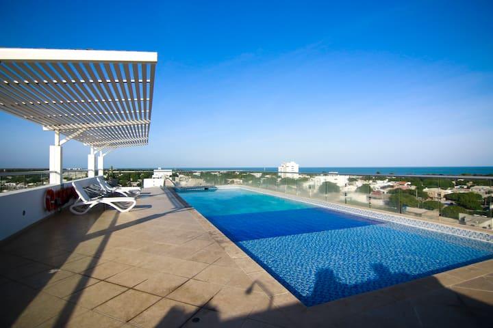 Moderno Apartamento *Riohacha* Piscina Y Vista Mar