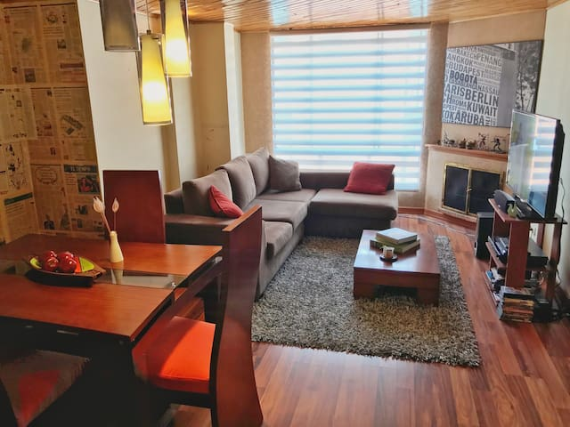 Cozy & furnished in trendy Cedritos/15 Mb WiFi