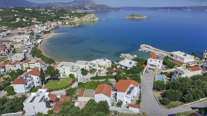 Almyrida Sands-VITA-100 m from the beach-Sea view