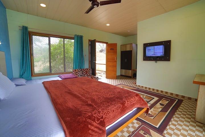Wooden Cottage Room at Sunrise Valley Mount Abu Rajasthan