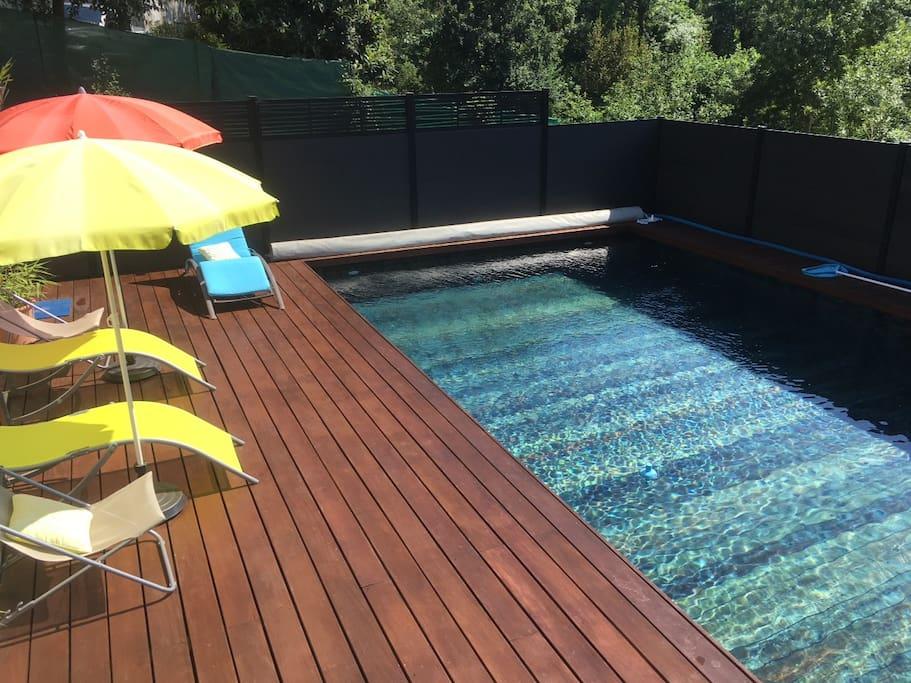 L'espace piscine protégé des regards