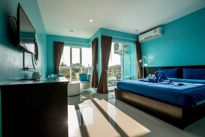 D Wide Double Room with balcony