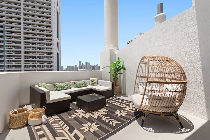 Enjoy Miami's weather on the rentals private patio area. Doubles as an extended outdoor living area