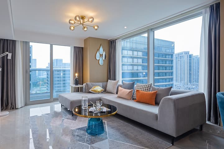 [AN YA公寓]星澜里拐角复式两室套房/超大落地窗