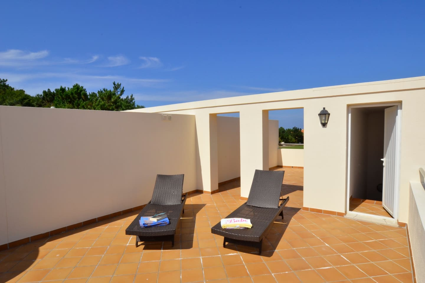 Large private roof terrace