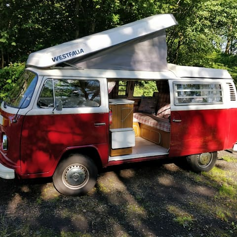 Classic Romantic VW Campervan available