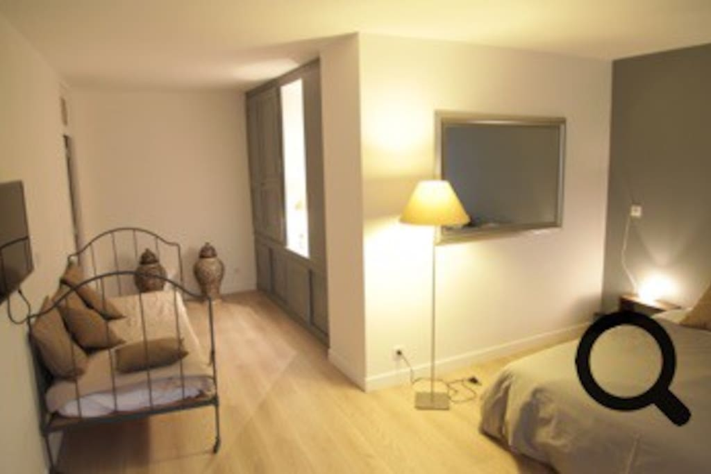 Chambre double + lit simple