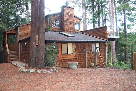 Canyon View Cabin in the Redwoods - Gualala - 一軒家