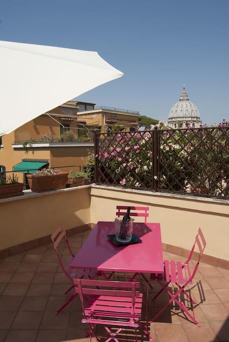 Terrace overlooking St. Peter