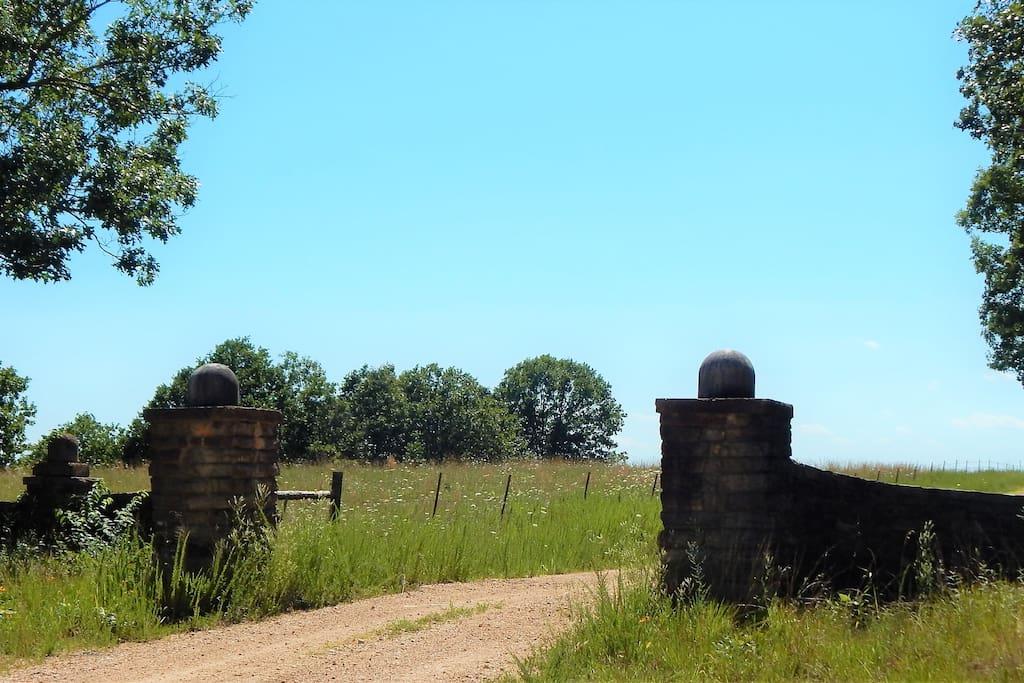 pass through these stone gates