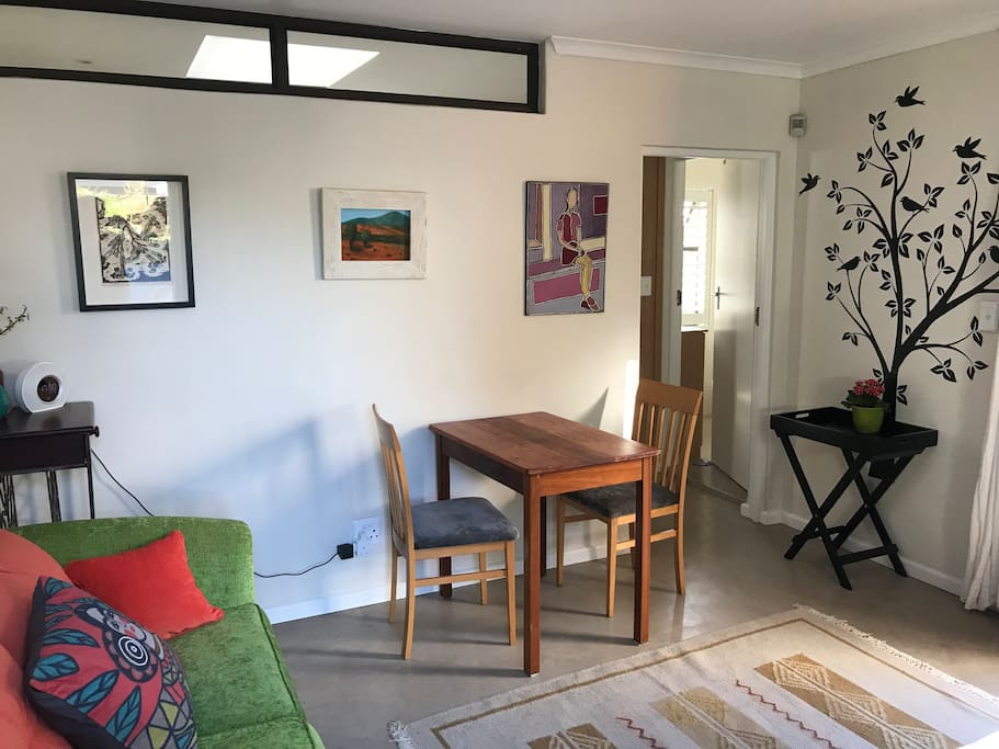 The bright living area