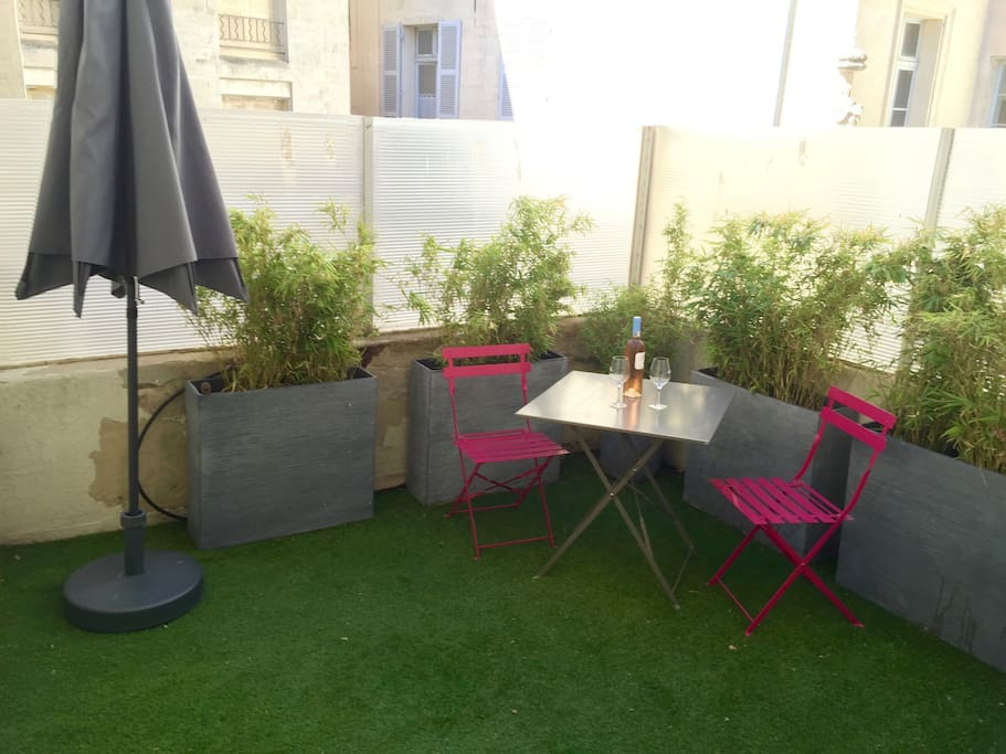 Terrasse privative de 10m2