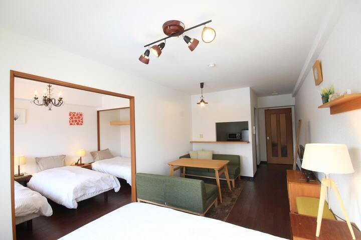 Private 1bedroom Sapporo Odori park apartment(607)