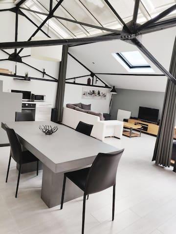 Loft industriel proche Lille 75 m2