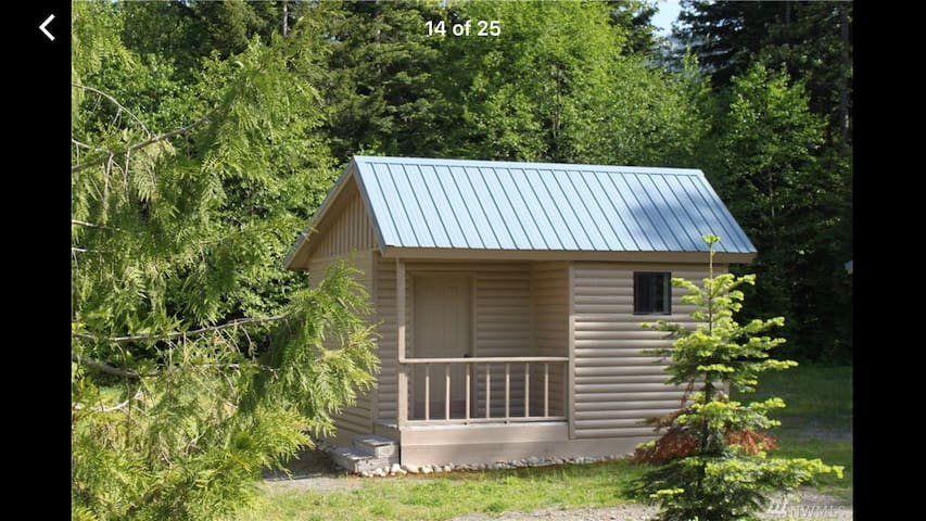 53 acres. Endless trails. Adorable Family Cabins!