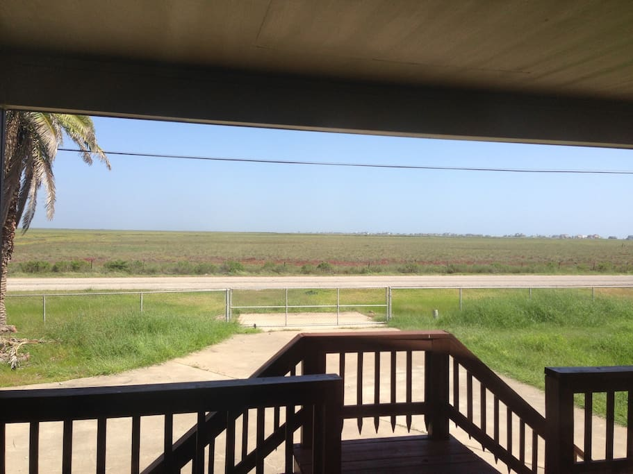 This is taken from the front porch looking at the San Bernard Wildlife Refuge.