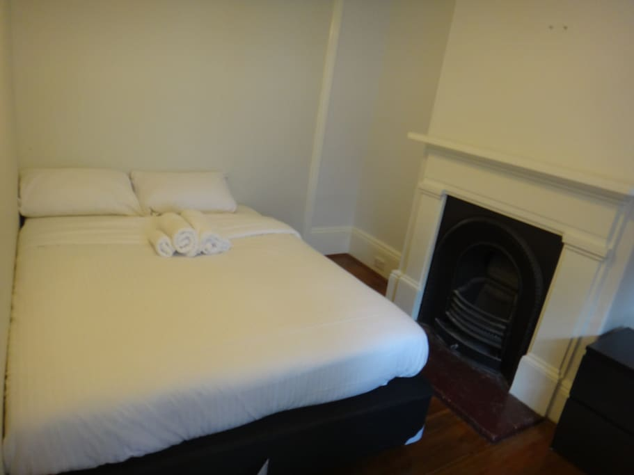 Double bed in ground floor bedroom