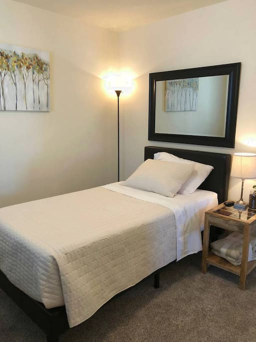 The South Room comes with  12' Memory Foam twin-sized mattress.
