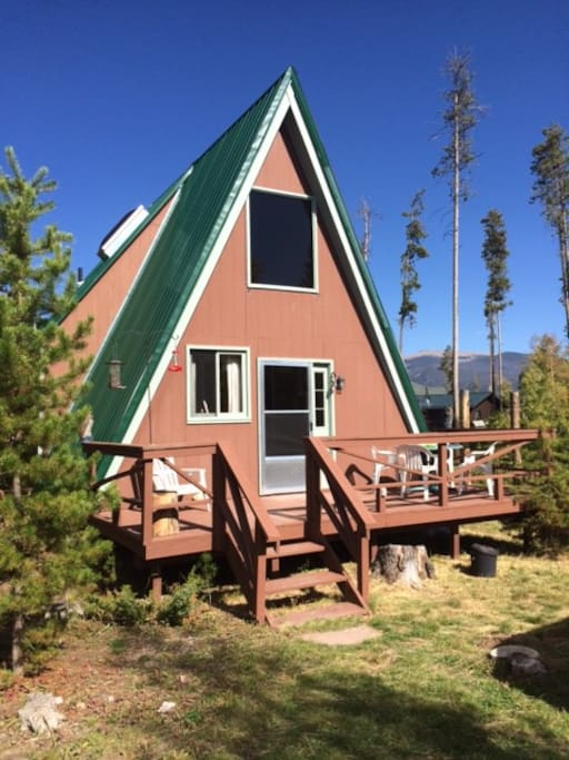 Modern a frame cabin grand lake cabins for rent in for Grand lake colorado cabin rentals