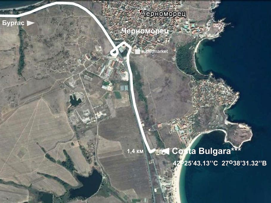 маршрут Черноморец - CostaBulgara***