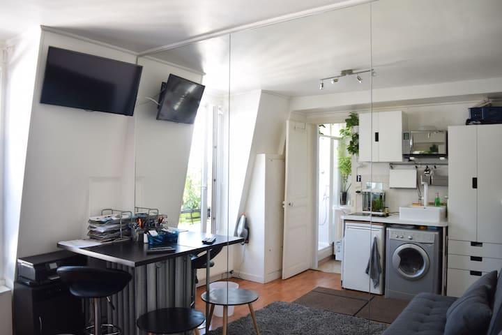 Lovely studio at the Republic Place / Marais - París - Departamento