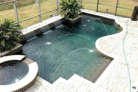 Huge, Pool Home. Private Queen & Twin Room for 1-3 - Kissimmee - Casa