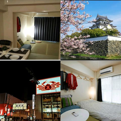 오사카성Osaka Castle15min보도~2인가격으로 4인까지 - 大阪市 - Appartement