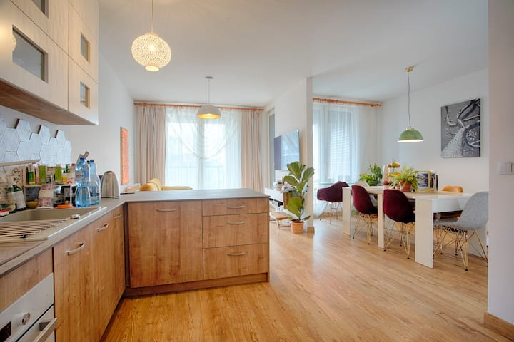 Lux Apartment Next to Lake in Krakow, 8-9ppl, 86m2
