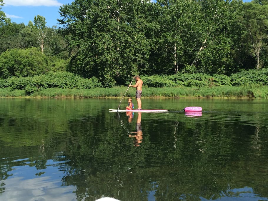 A little paddle boarding by the house