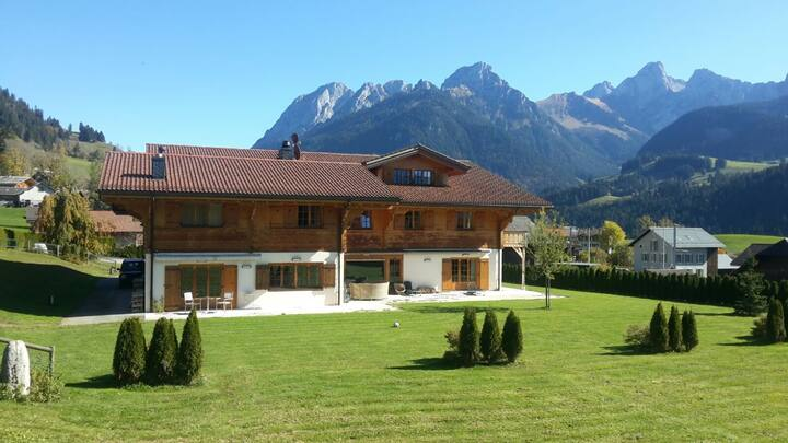 Gstaad Valley Chalet MountainView, entire duplex
